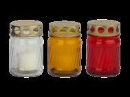 Mécses üveg, fém fedeles, henger forma (LA2)