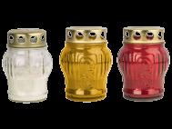 Mécses üveg, fém fedeles (LA11)